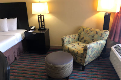 Relaxing Chair in King Size Room at Baymont Inn and Suites in Nashville, TN